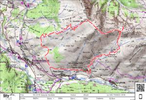 carte randonnée la gardiole de l'alp
